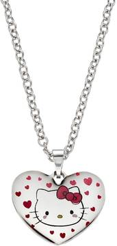 Hello Kitty Kids' Stainless Steel Heart Pendant Necklace