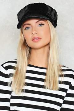 Nasty Gal nastygal Not Today Velvet Newsboy Cap