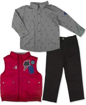 Nannette 3-Pc. Vest, Shirt & Pants Set, Little Boys (4-7)