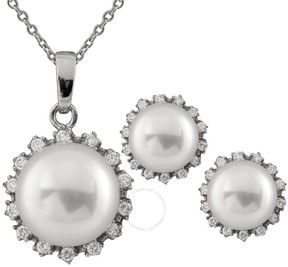 Bella Pearl Sterling Silver Necklace With Matching Earrings