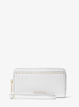 MICHAEL Michael Kors Large Scalloped Leather Smartphone Wristlet