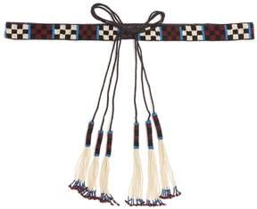 Isabel Marant Beaded tassel tie belt