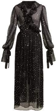 Ashish Sequin-embellished sheer-chiffon wrap dress