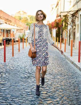 Boden Hotchpotch Pintuck Dress