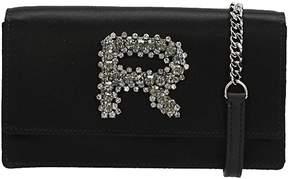 Rochas Embellished Logo Shoulder Bag