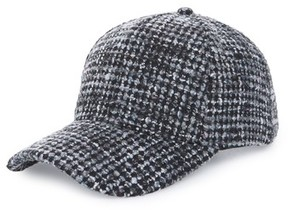 BP Women's Tweed Baseball Cap - Black