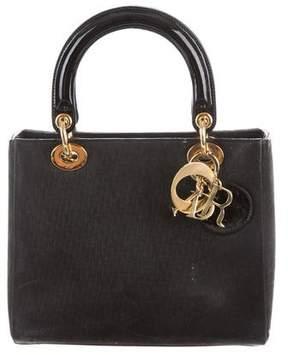 Christian Dior Nubuck Medium Lady Bag w/ Strap