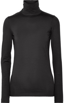 Jil Sander Stretch-cotton Turtleneck Top - Black