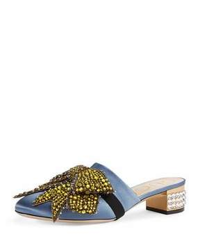 Gucci Candy Bow-Embellished Low-Heel Mule