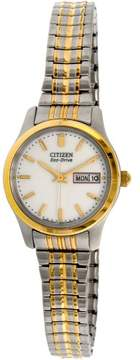 Citizen Women's EW3154-90A Gold Stainless-Steel Eco-Drive Fashion Watch
