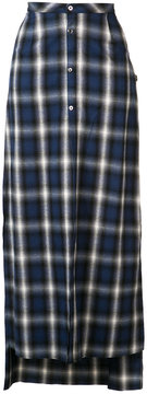 Amiri buttoned plaid skirt