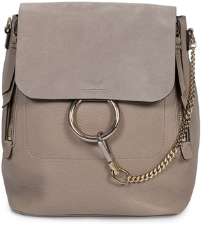 Motty Gray Faye Leather Convertible Backpack