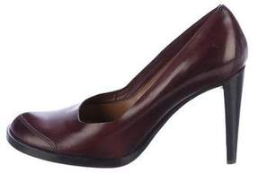 CNC Costume National Leather Round-Toe Pumps