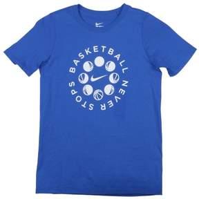 Nike Big Boys' (8-20) Basketball Never Stops T-Shirt-Blue-Small