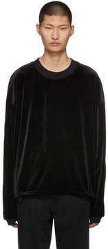 SASQUATCHfabrix. Black Velour Cut-Sewn Sweatshirt
