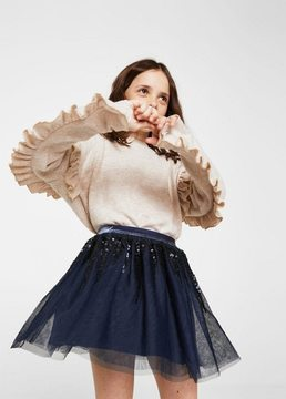 MANGO Sequin tulle skirt