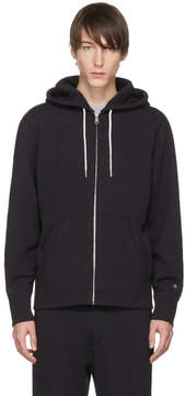 Rag & Bone Black Standard Issue Zip Hoodie