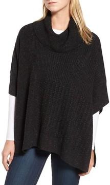 Caslon Petite Women's Mixed Stitch Poncho Sweater