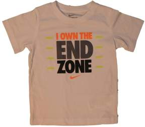 Nike Boys White I Own The End Zone Football Tee T-Shirt Size 7