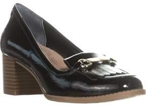 Giani Bernini Gb35 Seraa Loafer Block-heel Pumps, Black.