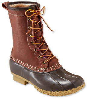L.L. Bean Men's Bean Boots by L.L.Bean, 10 Tumbled-Leather Shearling-Lined