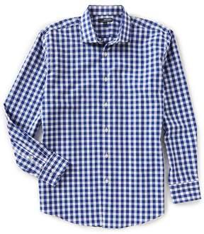 Murano Wardrobe Essentials Spread Collar Gingham Woven Shirt