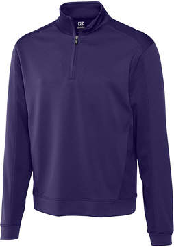 Cutter & Buck Purple DryTec Edge Half Zip - Men