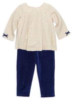 Absorba Baby Girl's Two-Piece Dotted Top and Pants Set