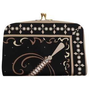Emilio Pucci Vintage Black Silk Clutch Bag