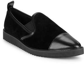 Karl Lagerfeld Paris Women's Cler8 Leather and Suede Loafers