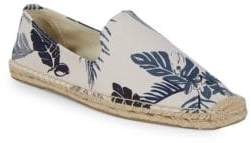 Soludos Smoking Tropical-Print Slip-On Espadrilles
