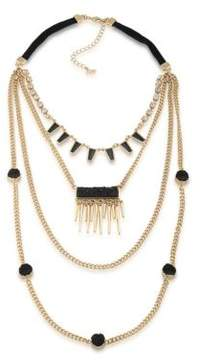 ABS by Allen Schwartz Rock It Out Four-Row Necklace