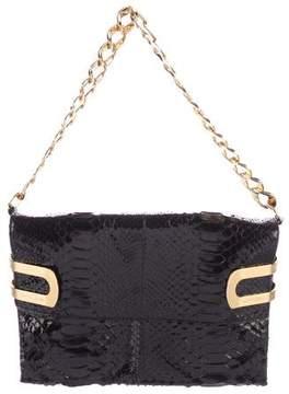 Michael Kors Python Shoulder Bag - BLACK - STYLE
