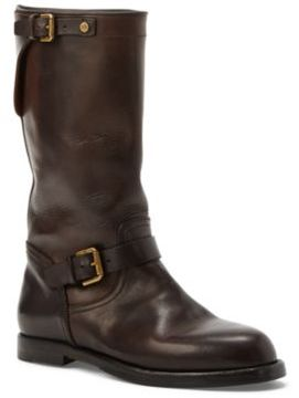Ralph Lauren Macha Leather Engineer Boot Dark Brown 8