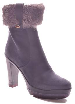 Alberto Guardiani Women's Blue Suede Ankle Boots.