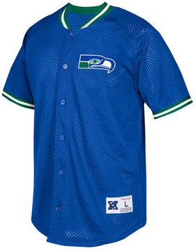 Mitchell & Ness Men's Seattle Seahawks Seasoned Pro Mesh Button Front Shirt