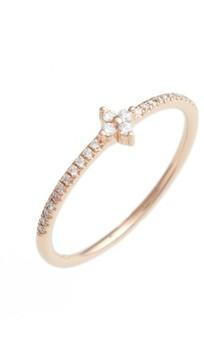 Bony Levy Women's Diamond Flower Stack Ring (Nordstrom Exclusive)