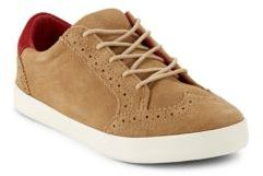 Hanna Andersson Boy's Leather Lace-Up Sneakers