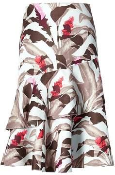 Banana Republic Tropical Ruffle Fit-and-Flare Skirt