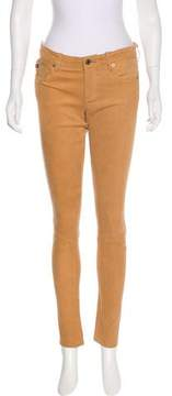Adriano Goldschmied Mid-Rise Suede Pants w/ Tags