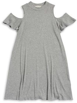 Soprano Girl's Cold Shoulder A-Line Dress