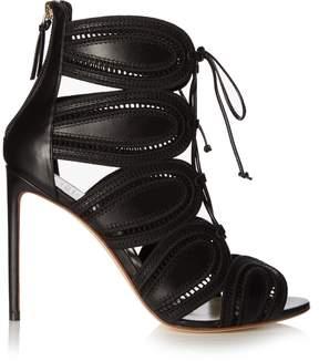 Francesco Russo Macramé cutaway leather ankle boots
