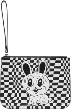 McQ Black and White Medium Pouch