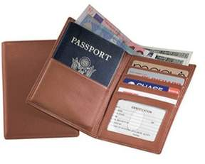 Royce Leather Unisex Passport Currency Wallet 222-5.