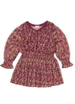 Splendid Print Crinkle Chiffon Dress