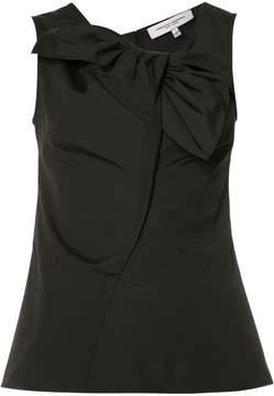 Carolina Herrera sleeveless bow neck blouse