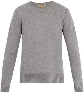 Burberry Crew-neck cashmere-blend sweater