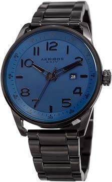 Akribos XXIV Blue Dial Black IP Stainless Steel Men's Watch