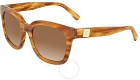 MCM Striped Cognac Rectangular Ladies Sunglasses 610S 256