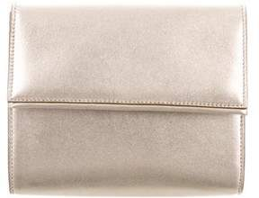 Max Mara Metallic Leather Clutch